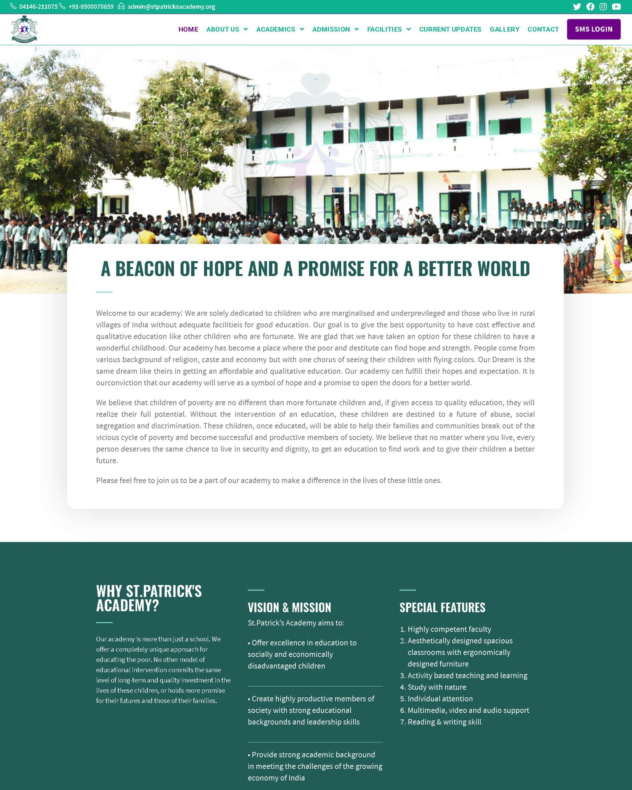 panfila™ global solutions st patricks academy v salai